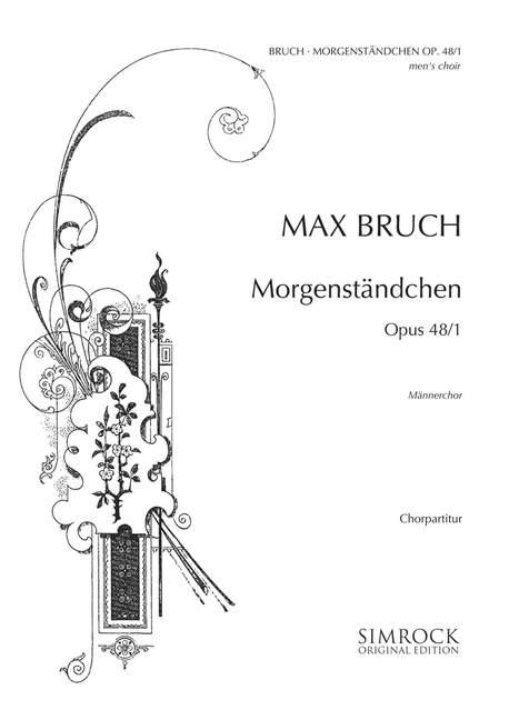 Morgenstandchen-op-48-1-Bruch-Max-choral-score-men-039-s-choir-TTBB-a-cappella